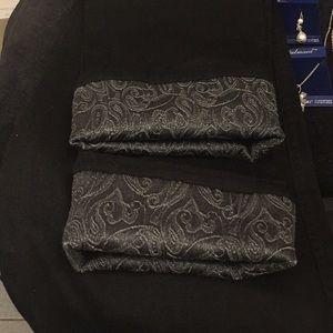 Black slim straight cut light jean pants